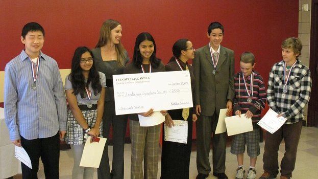 Teen Speaking Skills Students Graduate