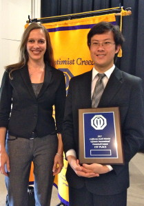 Austin Won 1st Place & a $2,500 Scholarship in the 2015 Optimist Club Oratorical Contest