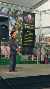 Academy for Public Speaking graduate Ethan Song won first place in the 2015 San Diego County Fair Oratorical Contest