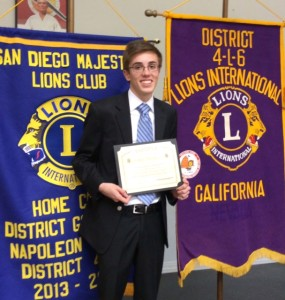 Academy for Public Speaking student won 1st place and a $4,500 scholarship in the 2014 Lions Club Student Speakers Contest!