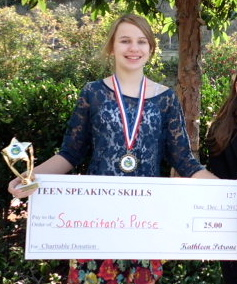 Academy for Public Speaking Graduate Wins a Donation for Samaritan's Purse