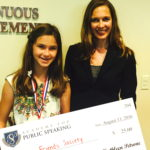 Academy for Public Speaking graduate Natalia wins a donation for Best Friends Society