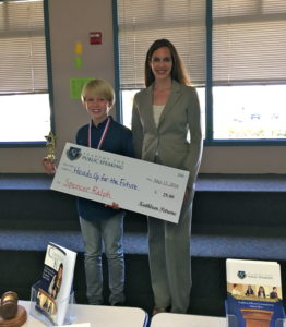 Academy for Public Speaking graduate Spencer wins a donation for his charity.