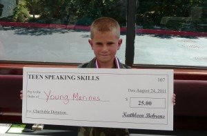 Teen Speaking Skills supports the Young Marines