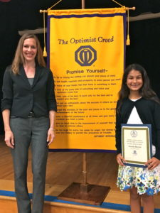 Academy for Public Speaking graduate Natasha Bacorn won a $1,500 scholarship in the 2016 Optimist Club Oratorical Contest