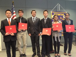 Academy for Public Speaking Graduates at the Encinitas Lions Club Contest in 2013