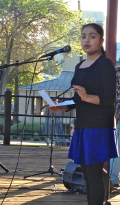 Academy for Public Speaking graduates shared inspirational speeches at the Spring Forward Music Festival