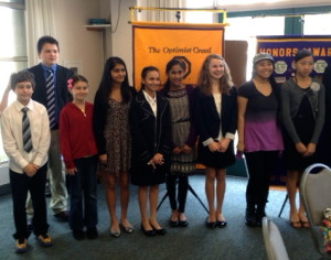 Del Mar Solana Beach Optimist Club Speech Contestants 2013