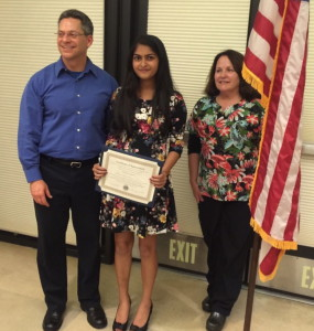 Academy for Public Speaking graduate Aisiri Murulidhar wins first place in the 2015 Serra Mesa Lions Club Contest
