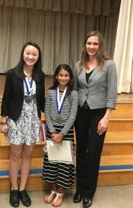 Academy for Public Speaking graduates Natasha and Jocelyn win 1st and 2nd place in the 2016 Allied Gardens Optimist Club Oratorical Contest