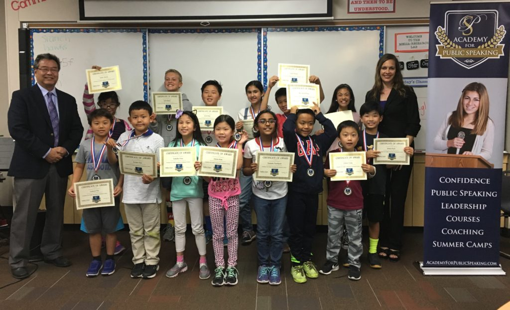 Academy for Public Speaking Graduates in the Solana Beach School District in San Diego