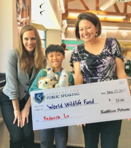 The Academy for Public Speaking supports the World Wildlife Fund.